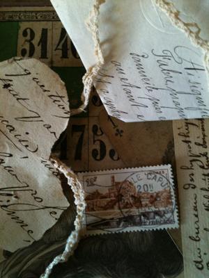 French Antique Paper Bundles