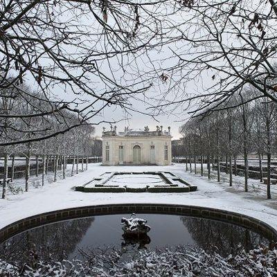 Versailles under snow Christian Milet