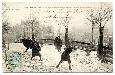 Montmartre under snow