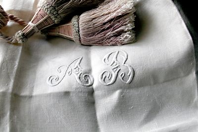 Monogram-napkins