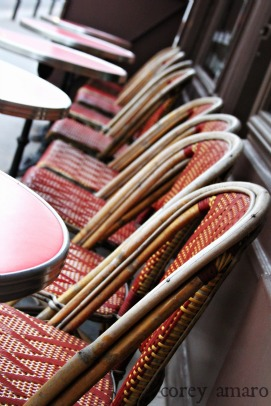 Paris cafe chairs