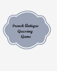 French antique guessing