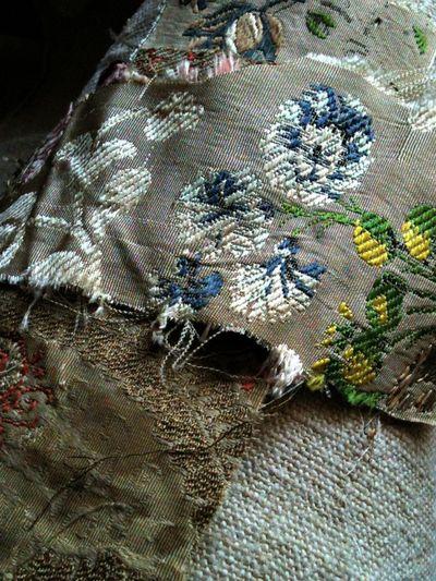 SIlk antique textile