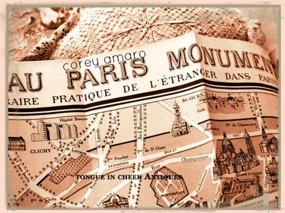 Paris-map French brocante