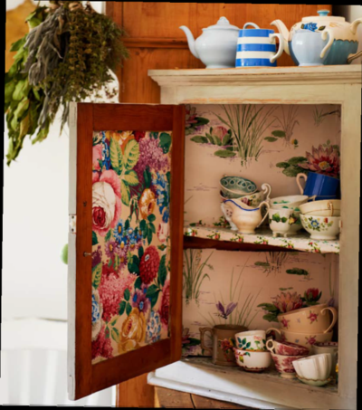 Sarah moore's lined cupboard