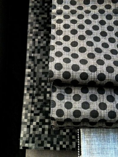 Polka dotted roman blinds