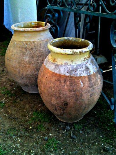 Large Provencal pots
