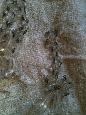 1900s Crystal Tulip Rope 28 inches
