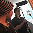 Sacha filming