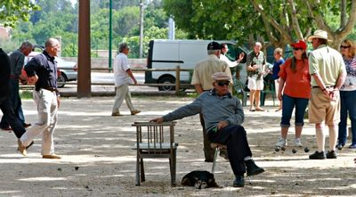 Boules in the park france