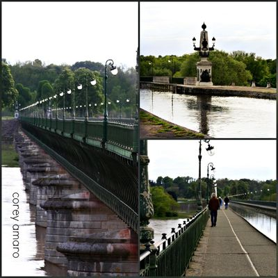 Briare Aqueduct, France Collage