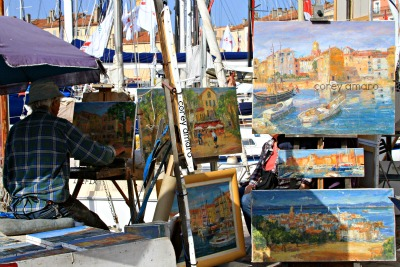 Scene on the port of St Tropez