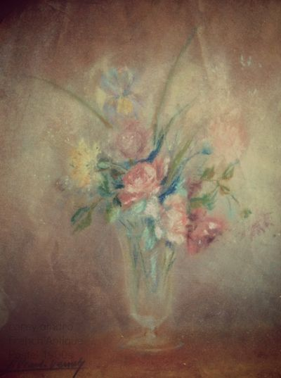 French antique pastel