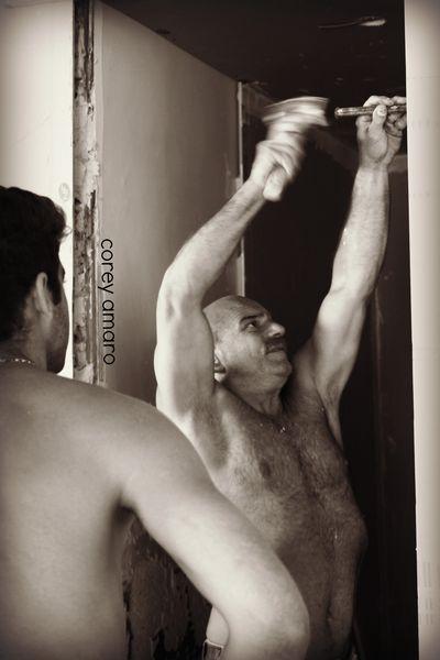 Preparing to hang a door
