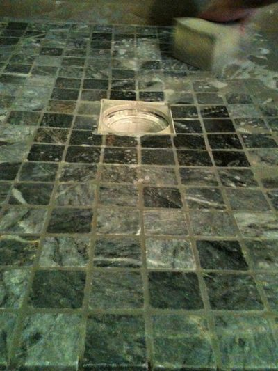 Tile work, france, grey marble