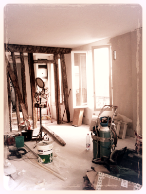 renovation, with French antiques
