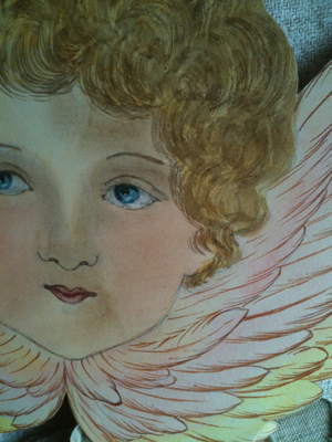 1900s Hand Painted Angel