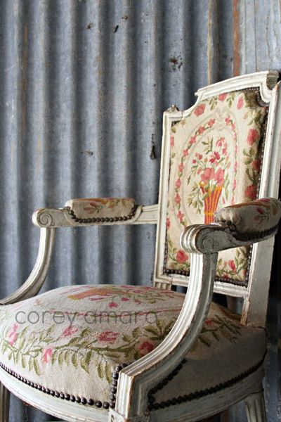 Stéphanie Mayeux Mortagne Au Perche  French antique chair and a tin roof