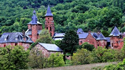 Collonges-la-Rouge, in Limousin, beautiful village in France