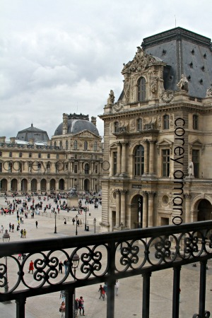 The louvre looking out