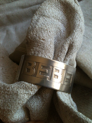 Silver Antique French Baby Napkin Ring