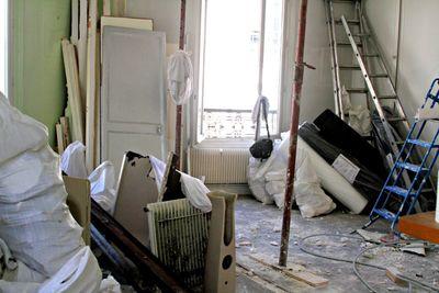 Paris apartment renovation site