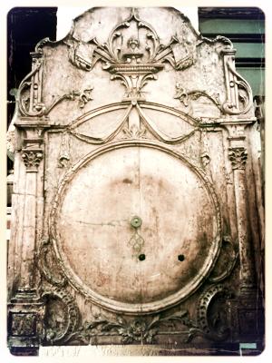 wooden 18th century clock
