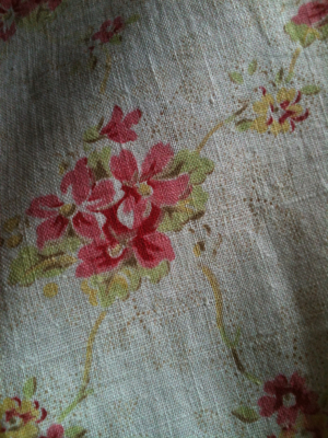 French 1930/40s Floral  Cotton Fabric