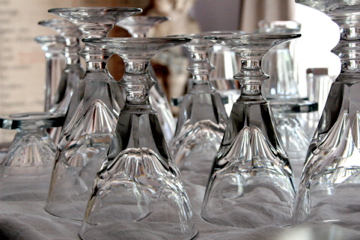 French-antique-wine-glasses