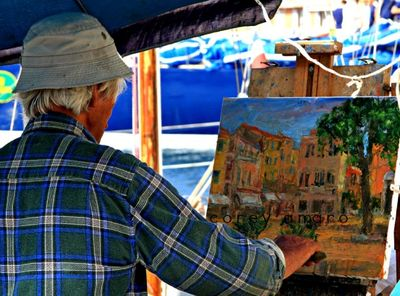 Painter, St Tropez, France