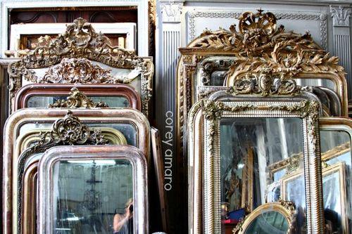 St Ouen Flea Market Gilded Mirrors