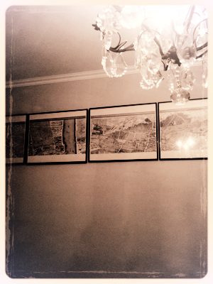 An Antique Map of Paris to Hang in the Bedroom