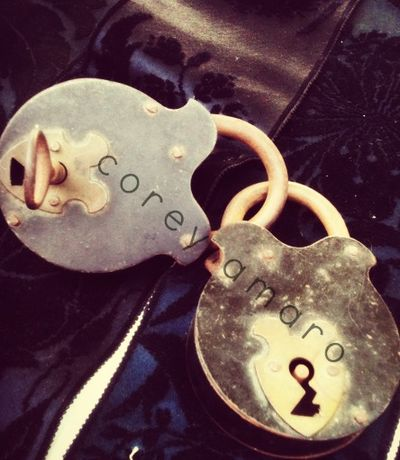 Love locked in paris, antique locks