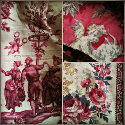 French antique textiles, Fabric