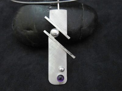 Sterling and Amethyst pendant