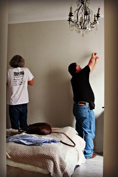 Renovating the paris apartment- hanging frames
