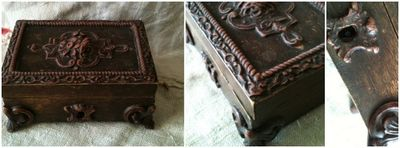French brocante souvenir box