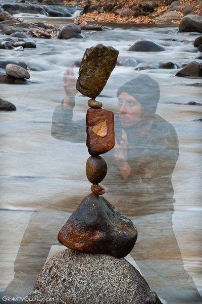 Michael grab rock balancer portrait