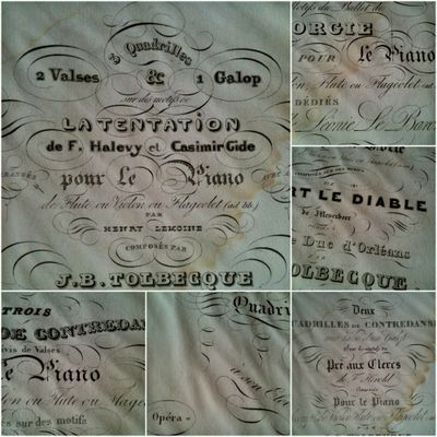 1800s Music Book for Piano