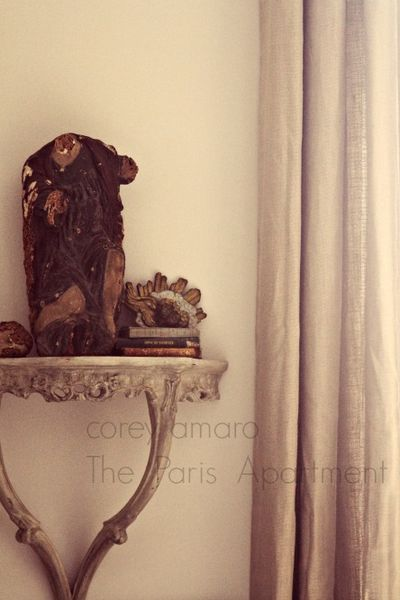 Paris apartment details, statue