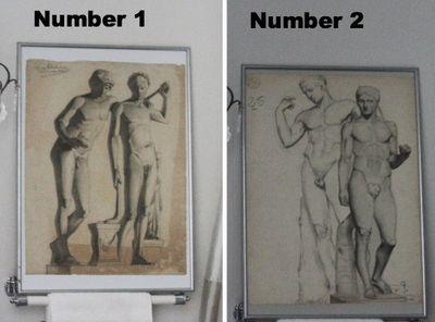 Nude men charcoal drawings