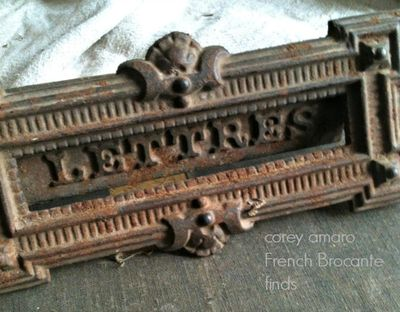 Letter slot, brocante, french, corey amaro
