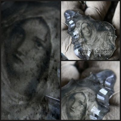 Mary, antique crystal