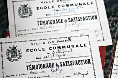 Report cards French 1900s