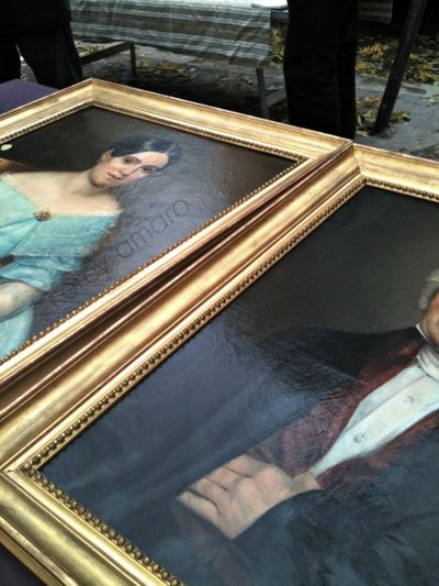 French antique portraits