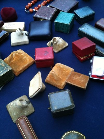 Antique ring boxes