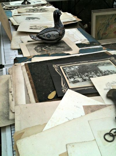 Antique French documents, and paper