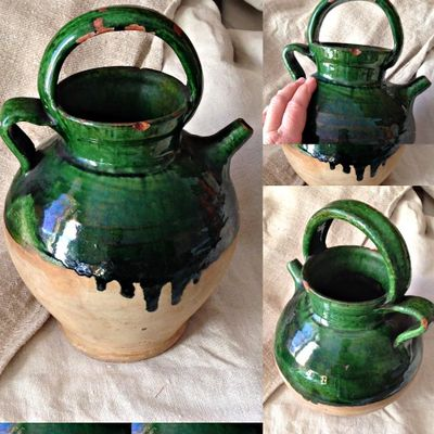 Provencal green water jug
