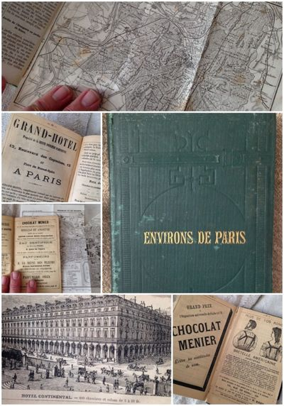 Antique paris guide book
