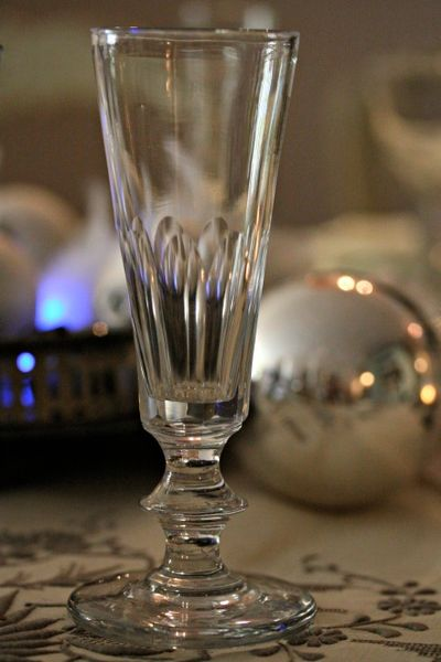 Christmas Champagne Glass.